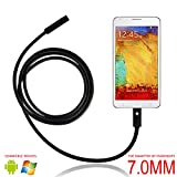 eBerry USB Endoscope, 2 in 1 Micro USB Borescope Waterproof Inspection Snake Camera with LED Flexible Endoscope OTG for Android Smart Phones, Tablets & Computer PC Laptop - 5m/16.5ft (Φ7mm)