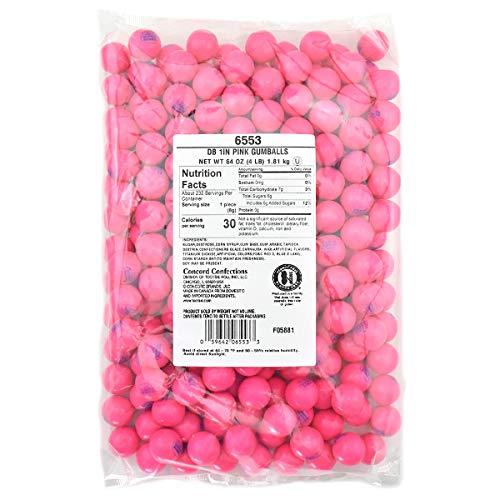 Tootsie Roll Dubble Bubble Pink 1-Inch Gumballs, 4 lb. Bag, Gumball Machine Refills, Bulk Packaging, 4 Pounds ()