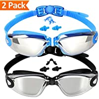 EVERSPORT Swim Goggles, 2 Pack Swimming Goggles Swim...