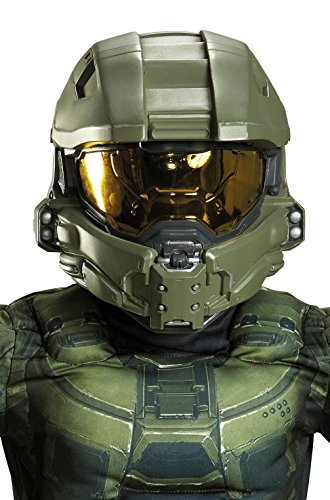 Halo Master Chief Child Full Deluxe Helmet Green -