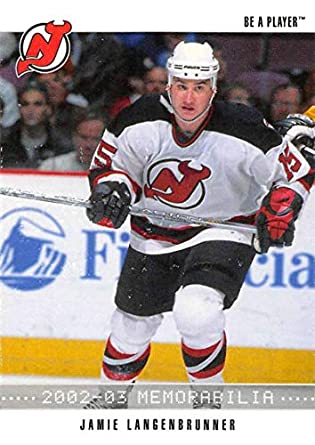 2002-03 Be A Player Memorabilia Hockey  28 Jamie Langenbrunner New Jersey  Devils Official d317ee708