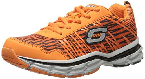 Skechers Kids Prompt Amend Sneaker,Orange,5.5 M US Big Kid