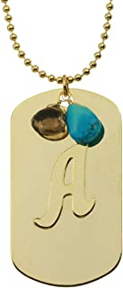 product image for a. v. max Letter A Gold-plated Dogtag Initial Necklace