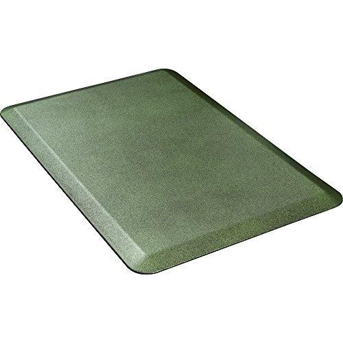 WellnessMats Anti-Fatigue Granite Motif Kitchen Mat,36 Inch by 24 Inch, Emerald