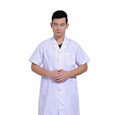 Xuanku Weiß Kurzarm Langarm weißen Kittel mit langen Ärmeln und ...