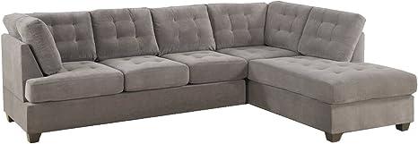 Amazon.com: 2-Pcs Sectional Sofa and ottoman By Poundex: Furniture & Decor