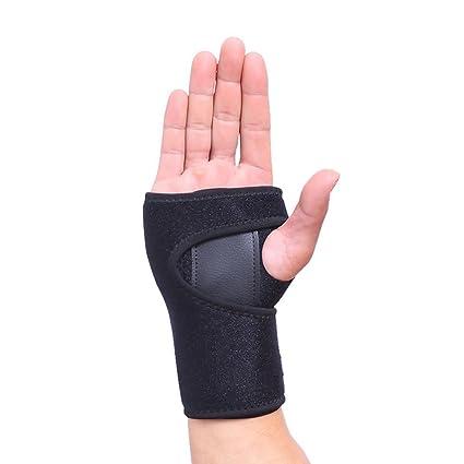 xluckx - Muñequera de apoyo para dormir – se adapta a ambas manos –  acolchada para 841f4563d150