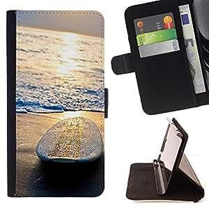 Dragon Case- Caja de la carpeta del caso en folio de cuero del tir¨®n de la cubierta protectora Shell FOR Samsung Galaxy S6 Edge G9250 G925F- Surfing Windsurfing Waves Sea Sunshine Beach