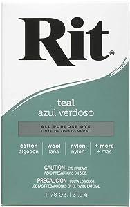 Rit Dye, Teal Rit All-Purpose Powder Dye, 1-1/8 oz
