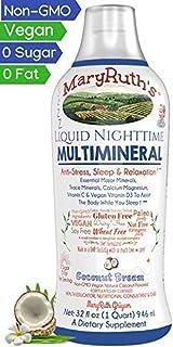Liquid Sleep Multimineral by MaryRuth (Coconut) Vegan Vitamins, Minerals, Magnesium, Calcium