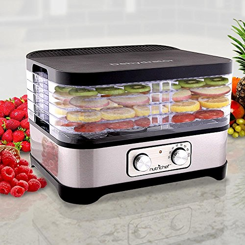 Multi Tier Food Dehydrator Machine - 250 Watt Professional S