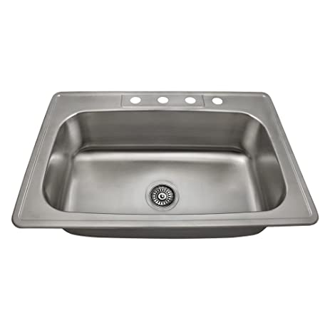 US1030T 20 Gauge Topmount Single Bowl Stainless Steel Kitchen Sink