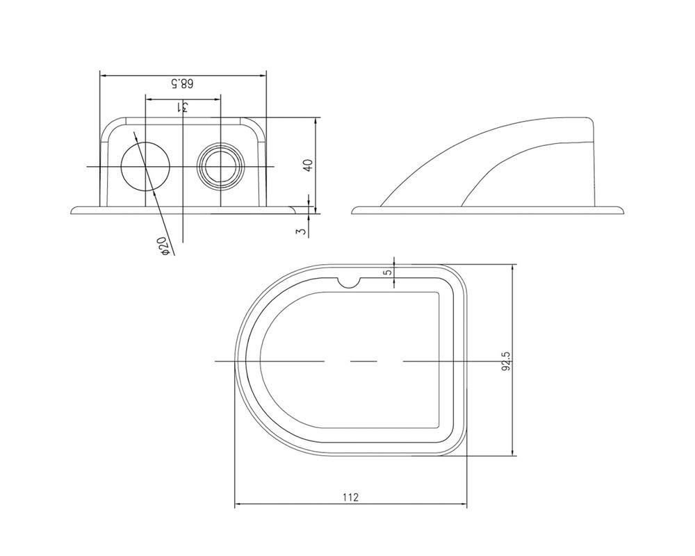 WATTSTUNDE Solarmodul Haltespoiler Dachbefestigungen Dachdurchf/ührung wei/ß DX1//W