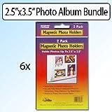 Pioneer Photo Albums 2.5'' x 3.5'' Magnetic Photo Frame 2Pk Bundle of 6