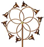 Stanwood Wind Sculpture Kinetic Copper Dual Spinner - Tumbling Flowers