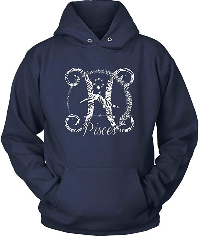 REAL MEN BORN IN FEBRUARY AQUARIUS PISCES BIRTH Mens Charcoal Hoodie