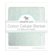 Amazing Baby Cellular Blanket, Premium Cotton, Sunwashed SeaCrystal
