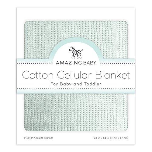Amazing Baby Cellular Blanket, Premium Cotton, Sunwashed SeaCrystal