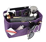Vercord Purse Organizer Insert Felt Neverful Bag Handbag Tote Organizer In Bag Shaper Liner Purple Small