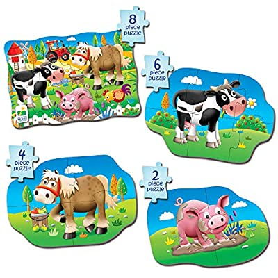 The Learning Journey My First 4-In-A-Box Puzzle - Farm - Educational Toddler Toys & Gifts for Boys & Girls Ages 2 & Up - Award Winning Puzzle: Toys & Games