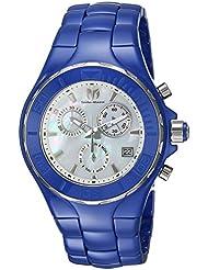 Technomarine Womens Cruise Quartz Ceramic Casual Watch, Color:Blue (Model: TM-115317)