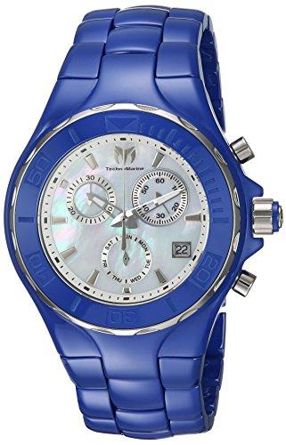 Technomarine Women's Cruise Quartz Watch with Ceramic Strap, Blue, 23 (Model: TM-115317