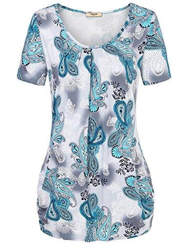 timeson-summer-womens-short-sleeve-pleated-front-knit-tunic-shirt-xx-large-greenish-gray