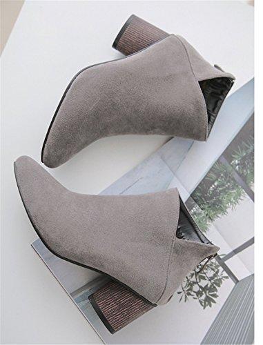 WLITTLE Sandalias de Vestir de Material Sintético Para Mujer gris