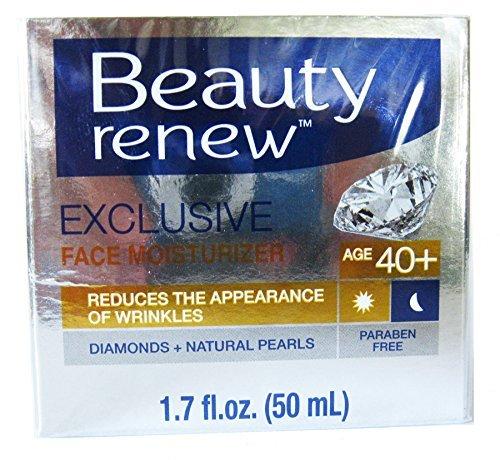 Beauty Renew 40+ Exclusive Day & Night Face Moisturizer Cream Diamonds+ Natural Pearls 1.7 fl. oz. -  DC SP, B01H7WE4Q4
