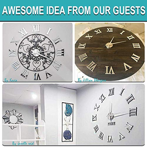 Vangold Large 3D DIY Wall Clock, 2-Year Warranty Roman Numerals Clock Frameless Mirror Surface Wall Clock Home Decor for Living Room Bedroom by Vangold (Image #5)