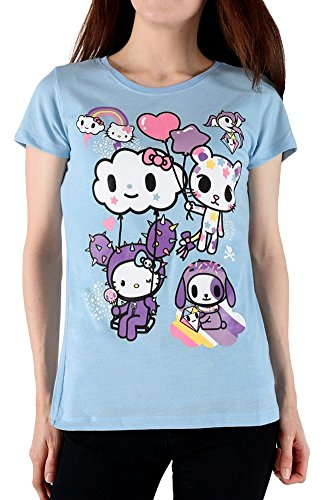 Tokidoki X Hello Kitty Women's Candy Clouds T-Shirt (Hello Kitty Cosplay)