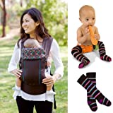 Beco Gemini Insider Baby Carrier with Matching Thigh Socks – Sierra