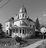 8 x 12 Black White Photo A Queen Anne-Style House, Built in 1895, at 718 Main Street in Sistersville, West Virginia 2015 Highsmith 13a
