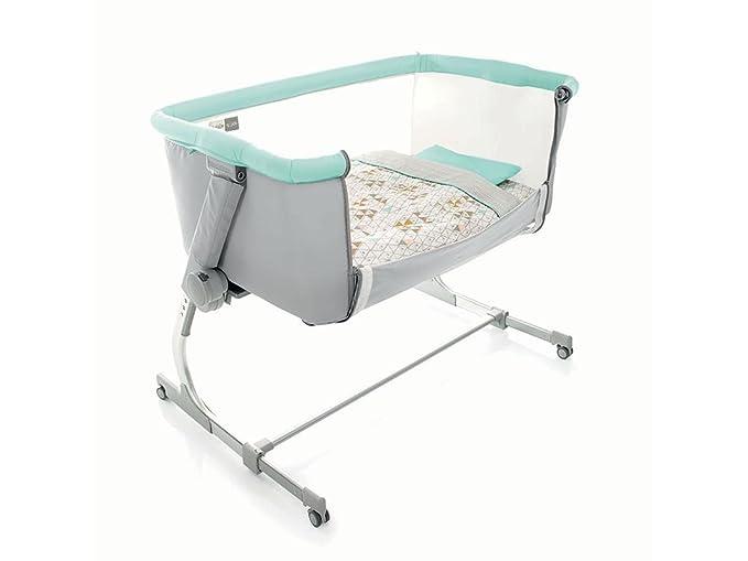 Cuna agganciabile al cama Jane babyside Fantasy gris y azul 6800 T09: Amazon.es: Bebé