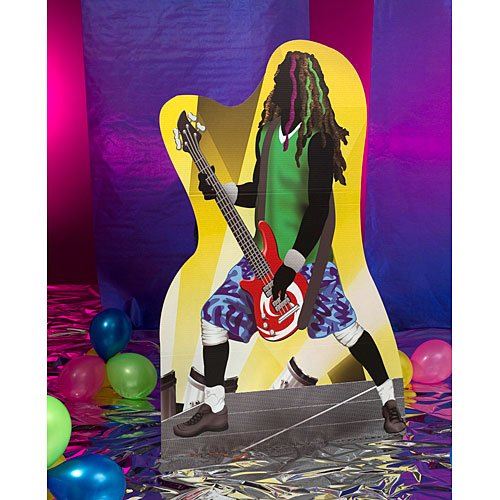 (6 ft. Rock Star Bass Player Rock n Roll Standee Standup Photo Booth Prop Background Backdrop Party Decoration Decor Scene Setter Cardboard Cutout)