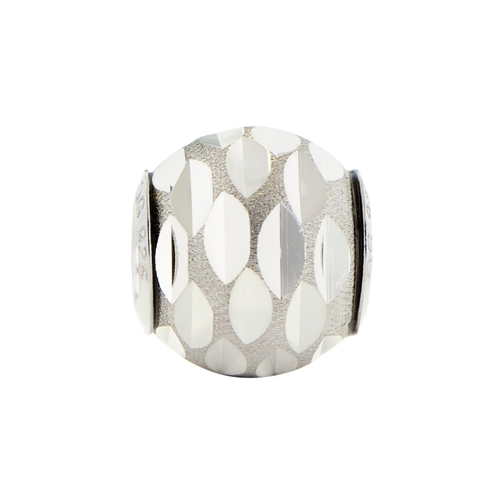 Jewel Tie 925 Sterling Silver Reflections Diamond-Cut Bead 10mm x 11.8mm