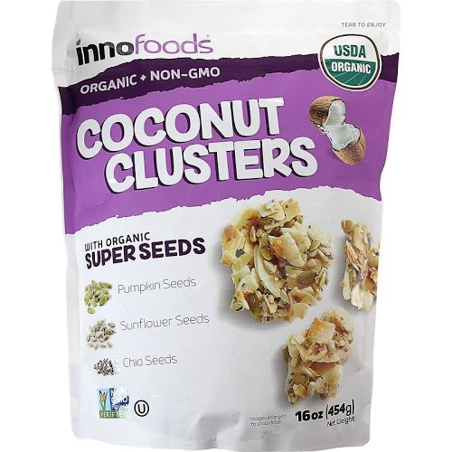 - Innofoods Organic Coconut Clusters with Super Seeds - 16 oz. bag