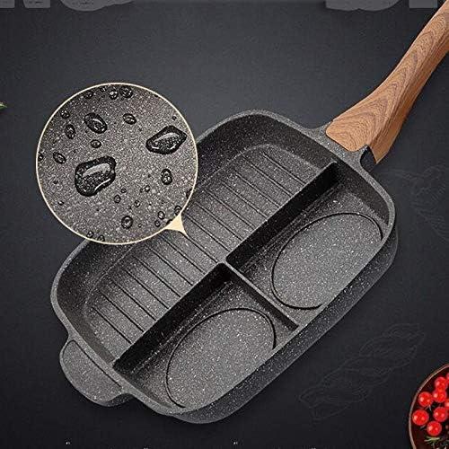 新麦飯石ステーキフライパン/スリーインワン多機能オムレツパン/ノンスティックパン全館禁煙朝食ポット/ 11.02x11.02inches wok (Color : A, Size : Medium)