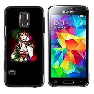 Stuss Case / Funda Carcasa protectora - Beautiful Sci Fi Woman - Samsung Galaxy S5 Mini, SM-G800