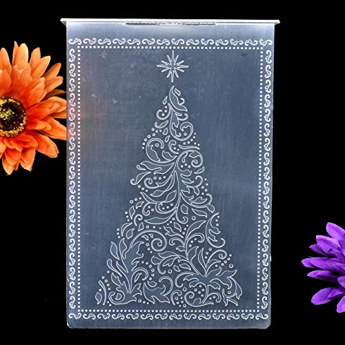 12.1x15.3cm KWELLAM 3pcs Merry Christmas Snowflake Flowers Leaves Garland Plastic Embossing Folders for Card Making Scrapbooking and Other Paper Crafts