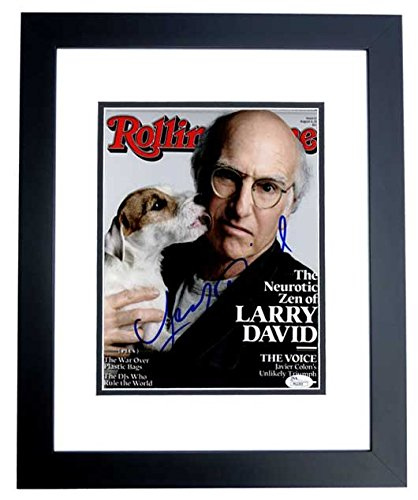 Larry David Signed - Autographed Seinfeld Writer, Co-Creator, and Producer 8x10 Photo BLACK CUSTOM FRAME - Curb...