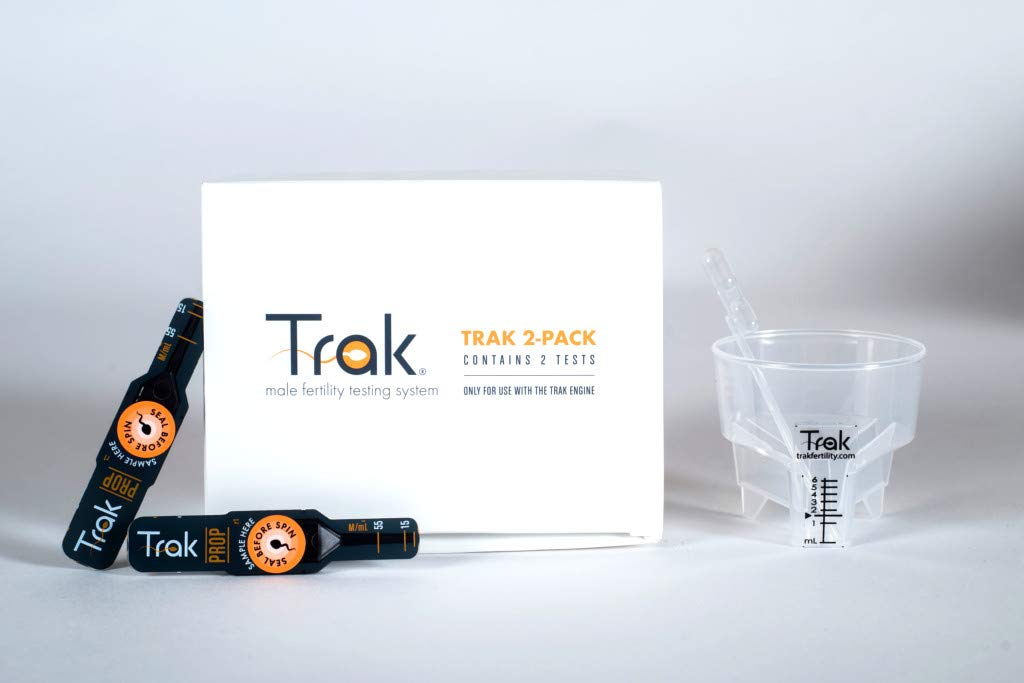 Trak At Home Male Fertility Sperm Test Refill Kit with 2 Tests (HSA/FSA Approved) by Trak