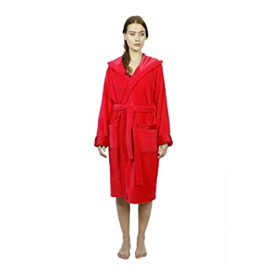 Fuchsiaberry Hooded Women\'s Bathrobe by Bown of London, 100% Pure ...