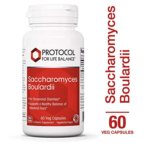 Protocol For Life Balance - Saccharomyces Boulardii - Supports a Healthy Balance of Intestinal Flora, GI Tract Relief, Upset Stomach, Immunity, Digestion, & Gut Health - 60 Veg Capsules