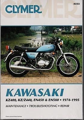 1974-1995 CLYMER KAWASAKI KZ400, KZ/Z440, EN450 & EN500 SERVICE MANUAL M355 (Kawasaki En500 Manual)