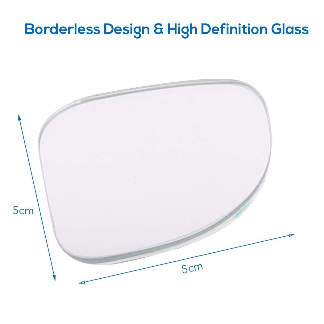 UNHO 2 x R/étroviseurs Ext/érieur en forme D Pour Angle Mort de Voiture Grand Angle Convexe R/églable 360/° Blind Spot Mirror Accessoires Voiture Id/éal Pour Conduite en S/écurit/é