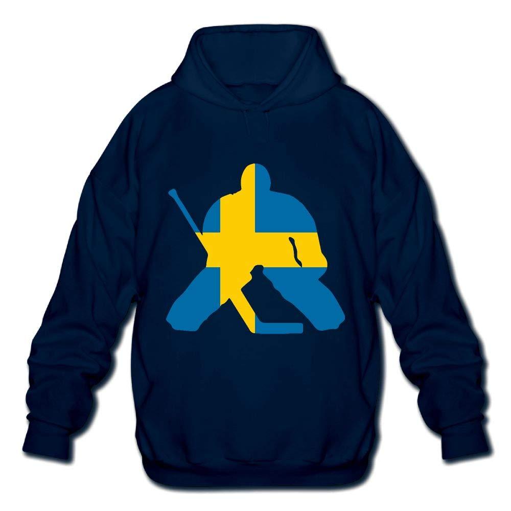 Sweden Flag Mens Printed Hooded Sweatshirt Hoody OPQRSTQ-O Hockey Keeper