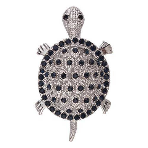 (Earofcorn Exquisite Small Rhinestones Turtle Brooches Clothing Accessories Cute)