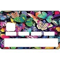 Stickers autocollants Skin Carte Bancaire CB,Carte bleue: Papillons réf 1136