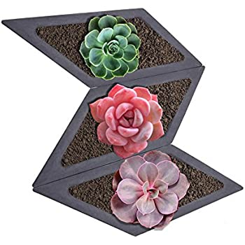 Rhombus Succulent Plants Silicone Mold Home Decoration Craft Potting Concrete Plant Cement Vase Molds for Garden Indoor Outdoor Decor